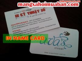 In name card giá rẻ, name card in và cán mờ 2 mặt, công nghệ in offset